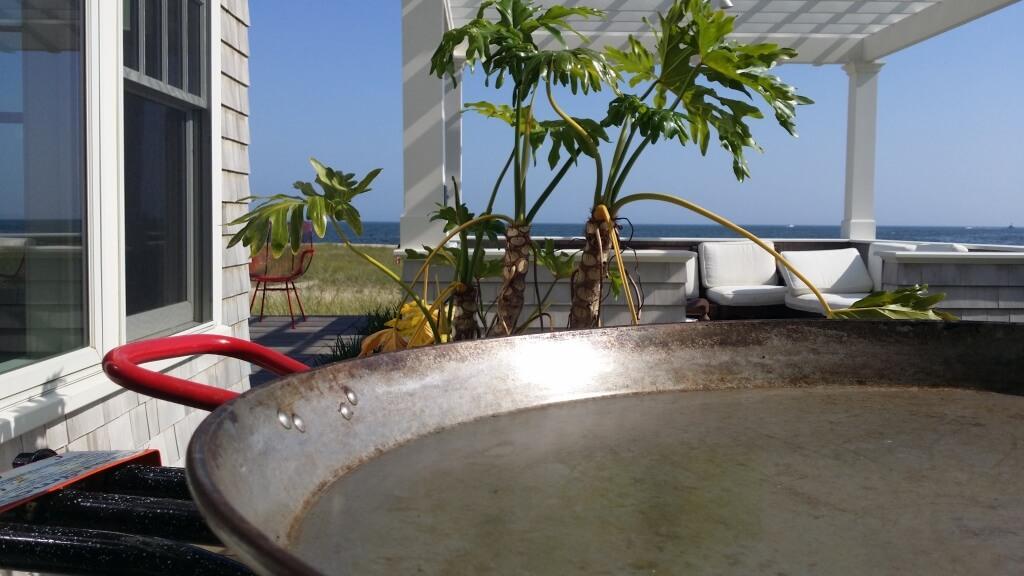 Birthday paella with paellasbyantonio.com,  Provincetown  Ma.